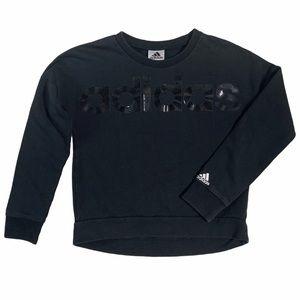 Adidas kids long sleeve black pullover sweater